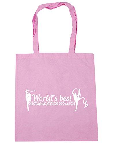 HippoWarehouse mejor gimnasia entrenador Tote Compras Bolsa de playa del mundo 42cm x38cm, 10litros Classic Pink
