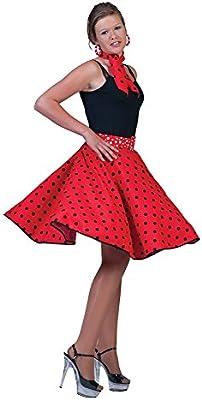 Falda Rock And Roll Años 50 con Pañuelo para el Cuello Tallas 36 ...