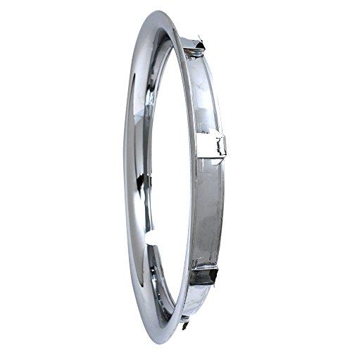 Trim Ring 15 inch diameter (Single Piece) Chrome ABS Plastic Beauty Rim (Trim Plastic Ring)