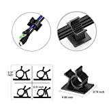 Autley Adhesive Cable Clips (100 Pieces, Two Sizes) Cable Wire Management Organizer Cable Tie Clamp Holder for Car, Office and Home