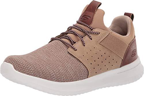 Skechers Men's Classic Fit -Delson - Camben Sneaker, Light Brown, 15 M