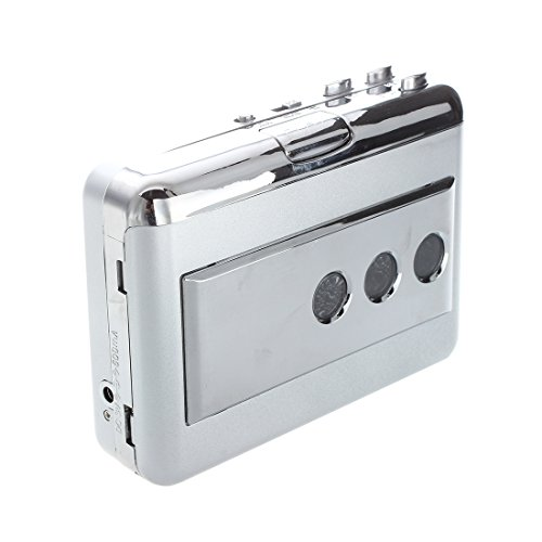TOOGOO(R) Portable LP Vinyl Tape to PC Dual Hybrid USB Cassette-to-MP3 Converter Capture with USB 2.0 All-in-one Card Reader