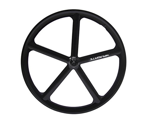 SWAGERWA 700C 5 spoke wheel Front/Rear Wheel For Fixed Gear/Single Speed/Track Bike Bicycle wheel 23C 25C 28C fixie Mag Alloy Flip-flop Rims (Rear)