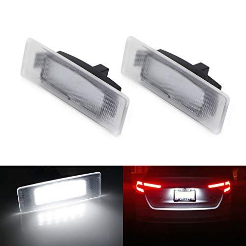 iJDMTOY OEM-Fit 3W Full LED License Plate Light Kit For Kia Optima K5 Cadenza & Hyundai Sonata, Powered by 18-SMD Xenon White LED & Can-bus Error Free