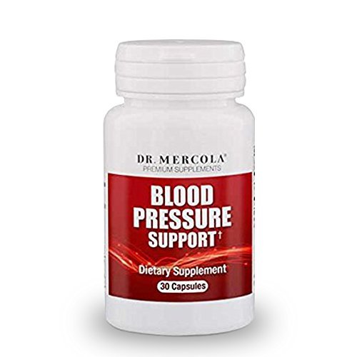 Dr. Mercola Blood Pressure Support Dietary Supplement - 2 Bottles - 30 Capsules - 300mg Grape Seed Extract - Supports High Blood Pressure Relief, Inflammation, Vascular & High Cholesterol Symptoms