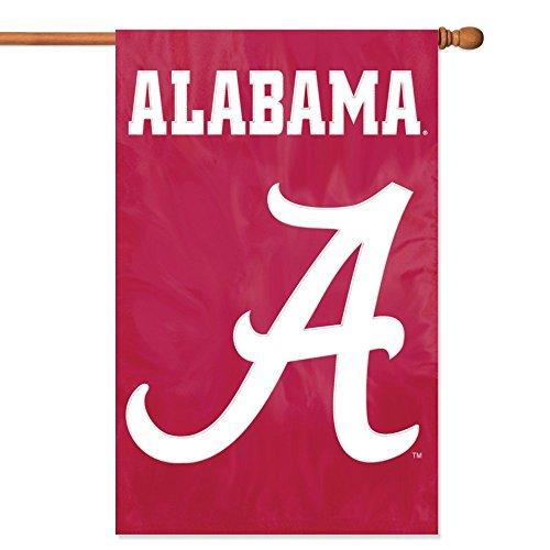 [Party Animal Alabama Crimson Tide Banner College Flag] (Applique College Flag Banner)