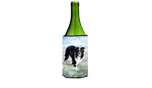 Border Collie Wine Bottle Beverage Insulator Beverage Insulator Hugger
