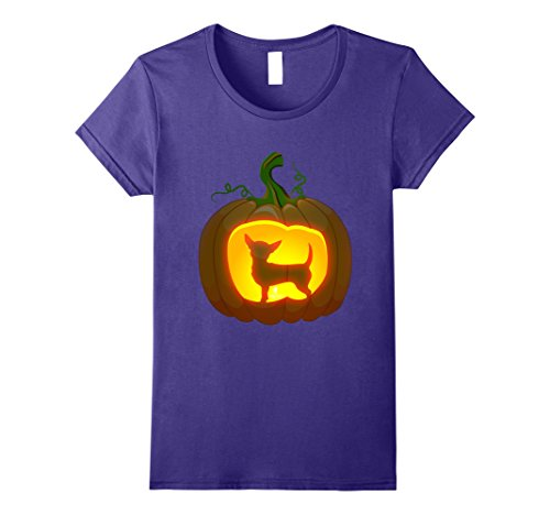 Chiweenie Halloween Costumes (Womens chiweenie Halloween shirt XL Purple)