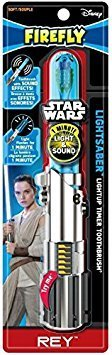 Price comparison product image Firefly Star Wars Rey Light Saber Soft Toothbrush (Pack of 1)