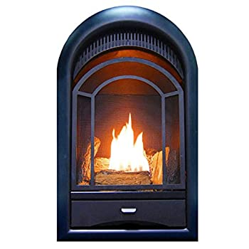 Image of ProCom Heating PCS150T Ventless Fireplace Insert Thermostat Control Arched Door, Medium, White