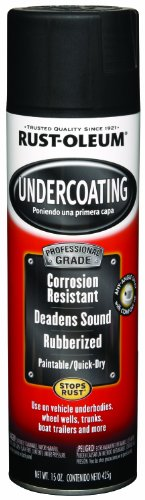 Rust-Oleum 248656 Automotive Professional Rubberized Undercoating, 15 Oz, Can, Aerosolized Mist, Black