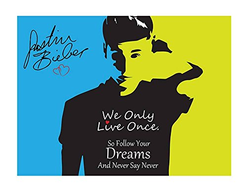 Alonline Art - Justin Bieber #6 Never Say Never by Alonline DSN | print on high quality fine art photo paper poster (Rolled) | 47