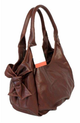 1A Genuine Leather Women's Bag/Purse Handbag Shoulder Bag Marrone 00021