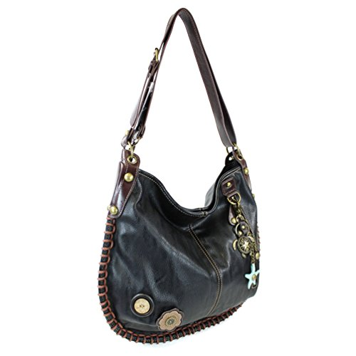 M808 Hobo Handbags Charming tu1 bk By large Chala Turtle X Xbody Exxq87C