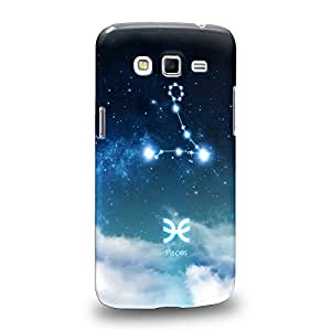 Case88 Premium DesignsThe 12 Zodiacal Constellations 3D Space Blue Pisces zodiacal signs Carcasa/Funda dura para el Samsung Galaxy Grand 2