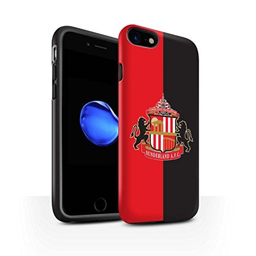 Officiel Sunderland AFC Coque / Matte Robuste Antichoc Etui pour Apple iPhone 8 / Rouge/Noir Design / SAFC Crête Club Football Collection
