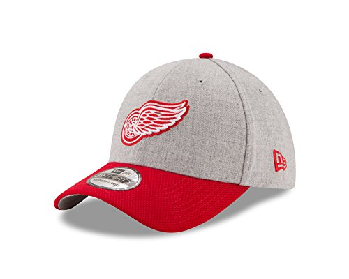 Wings Up (NHL Detroit Red Wings Adult Change Up Redux 39THIRTY Stretch Fit Cap, Large/X-Large, Heather Gray)