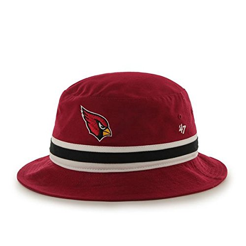 '47 Brand Striped Bucket Hat - NFL Gilligan Fishing Cap (Arizona Cardinals)