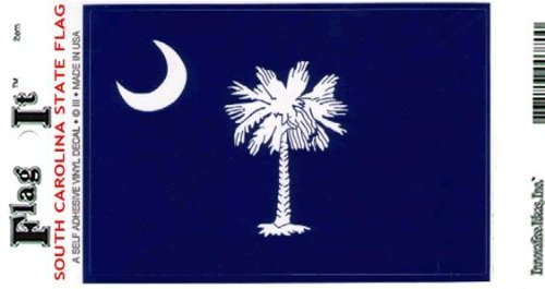 Flag It South Carolina Heavy Duty Vinyl Bumper Sticker (3 x 5 Inches)