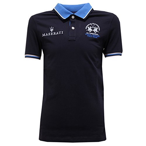 4005T polo bimbo LA MARTINA JUNIOR maglia blu t-shirt polo kid [5 ...