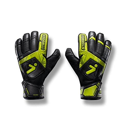 - Storelli Gladiator Challenger 2 Goalkeeper Gloves |High Perfomance Soccer Goalkeeper Gloves |Finger & Palm Protection With Super-Soft Premium Latex|Sweat-Wicking|Black