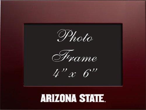 Arizona State University - 4x6 Brushed Metal Picture Frame - Burgundy - Arizona State Sun Devils Tabletop