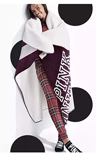 Victoria's Secret Pink Nation Logo Sherpa Blanket 2018-50