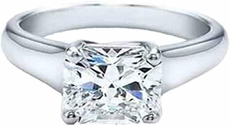 2aabbff40 Dazzlingrock Collection 1.02 Carat (ctw) 14K Princess Cut Diamond Solitaire  Engagement Bridal Ring,