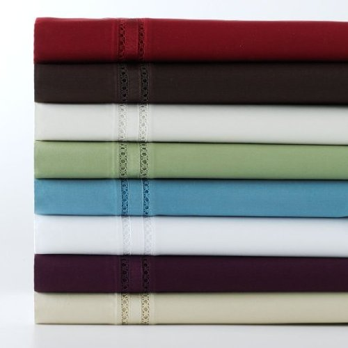 Chadwicks Cotton - CHAPS Home Chadwick Two King Pillowcases 700 Thread-Count Fine 100% Egyptian Cotton (Garnet)