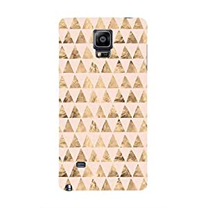 Cover It Up - Brown Pink Triangle Tile Galaxy note Edge Hard Case