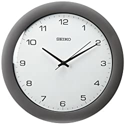 Seiko 12 Brushed Metal Quiet Sweep Wall Clock