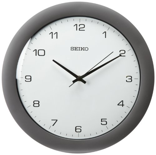 Crystal Clock Seiko - Seiko Wall Clock Silver-Tone Metallic Case
