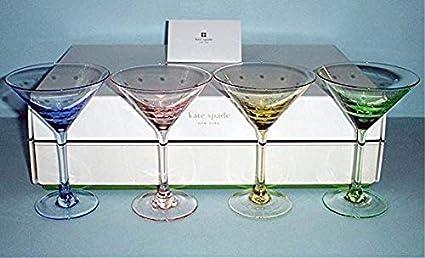 9441d7fae3b Amazon.com | Kate Spade Larabee Dot pop Mini Martini 4 Glasses ...