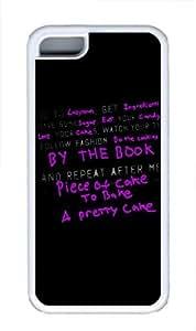 iPhone 5C Case, iPhone 5C Cases -Purple Phrase TPU Custom iPhone 5C Case Cover Whtie