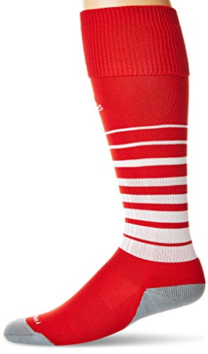 ccer Sock, University Red/White, Medium (Nylon Tennis Jersey)