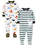 Carter's Boys' 2-Pack Fleece Pajamas (24 Months, Dino/yeti)