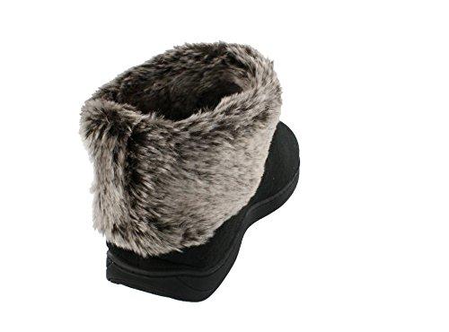 NCAA Boots Happy Feet Sheepskin Faux Womens Top Slipper State Ohio Buckeyes College Fur HqRfUz