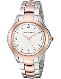 Women's 'Esedra' Quartz Stainless Steel Casual Watch, Color: Silver-Tone (Model: ARS8506)
