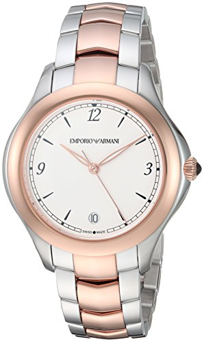 Emporio Armani Swiss Made Women's 'Esedra' Quartz Stainless Steel Casual Watch, Color: Silver-Tone (Model: ARS8506)