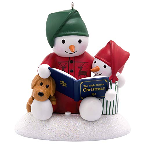 Hallmark Keepsake Ornament, Story Time Snowman (Snowman Ornaments Stuffed)