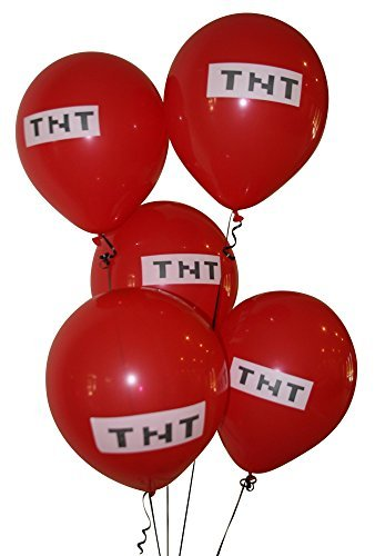 Pixelated Red TNT Balloon 12