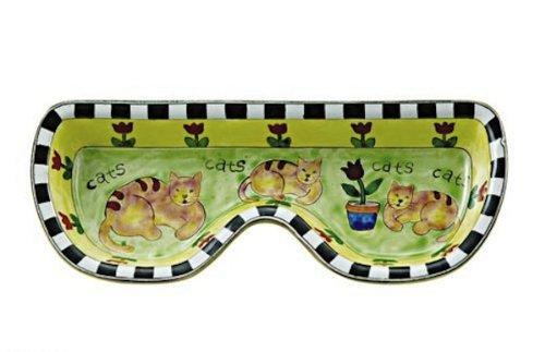 Kelvin Chen - Brown Cats - Enameled Eyeglass Holder / Tra...
