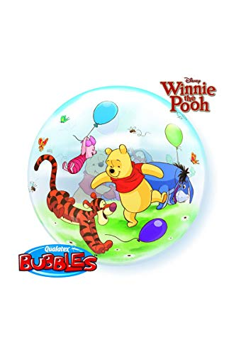 Qualatex Winnie The Pooh & Friends see-through Bubble Balloon 22-Inches (1-Unit) -