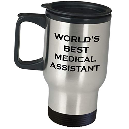 Best Medical Worlds Assistant - Appreciation Gift Idea for Worlds Best Medical Assistant - Coffee Tumbler Insulated Stainless Steel Travel Mug Men Women Administrative Funny Cute Gag Gifts