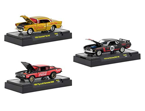 - Coca-Cola Release 2, Set of 3 Cars Limited Edition to 4,800 Pieces Worldwide Hobby Exclusive 1/64 Diecast Models by M2 Machines 52500-RC02