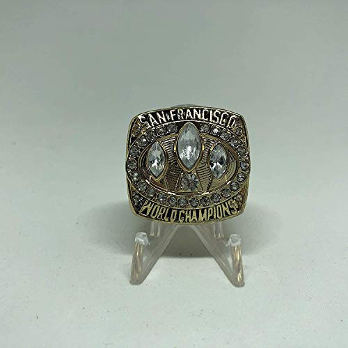 - 1988 Jerry Rice San Francisco 49ers High Quality Replica 1988 Super Bowl XXIII Ring Size 11-Gold & Red Logos US SHIPPING