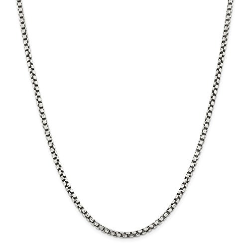925 Sterling Silver 3.5mm Chain Necklace 22 Inch Pendant Charm Box Fine Jewelry Gifts For Women For Her
