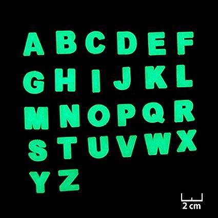 Adesivi Murali Fosforescenti Luminose Motivo Lettere Dellalfabeto