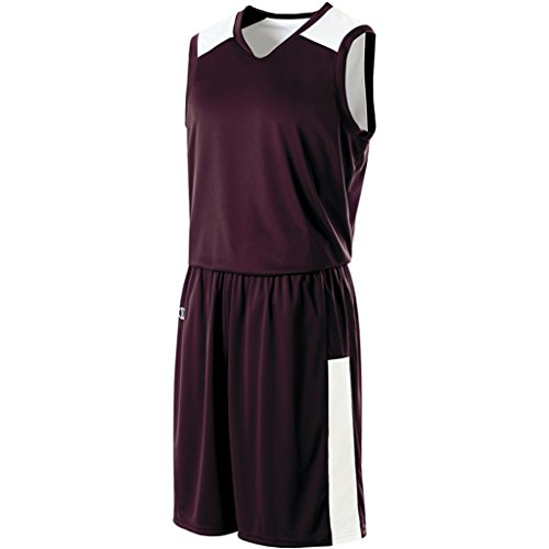 Holloway Ladies Reversible Nuclear Jersey (X-Large, Dark Maroon/White) by Holloway