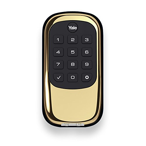 Yale Real Living B1L Lock - Key Free Push Button Deadbolt; Polished Brass (YRD110-NR-605) Yale Security, Inc.